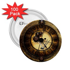 Wonderful Steampunk Desisgn, Clocks And Gears 2 25  Buttons (100 Pack)