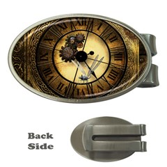 Wonderful Steampunk Desisgn, Clocks And Gears Money Clips (oval)