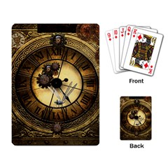 Wonderful Steampunk Desisgn, Clocks And Gears Playing Card