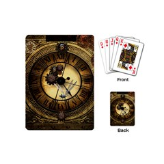 Wonderful Steampunk Desisgn, Clocks And Gears Playing Cards (mini)