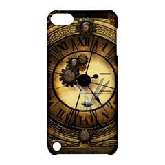 Wonderful Steampunk Desisgn, Clocks And Gears Apple Ipod Touch 5 Hardshell Case With Stand