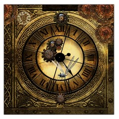 Wonderful Steampunk Desisgn, Clocks And Gears Large Satin Scarf (square)
