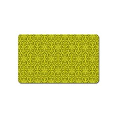 Flower Of Life Pattern Lemon Color  Magnet (name Card)