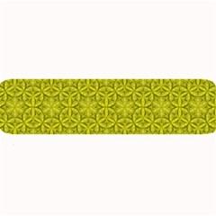 Flower Of Life Pattern Lemon Color  Large Bar Mats