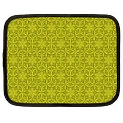 Flower Of Life Pattern Lemon Color  Netbook Case (xl)