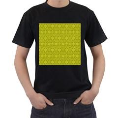 Flower Of Life Pattern Lemon Color  Men s T Shirt (black)