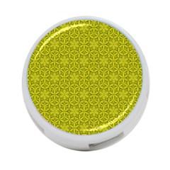 Flower Of Life Pattern Lemon Color  4 Port Usb Hub (two Sides)