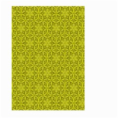Flower Of Life Pattern Lemon Color  Large Garden Flag (two Sides)