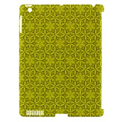 Flower Of Life Pattern Lemon Color  Apple Ipad 3/4 Hardshell Case (compatible With Smart Cover)