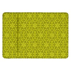 Flower Of Life Pattern Lemon Color  Samsung Galaxy Tab 8 9  P7300 Flip Case