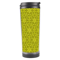 Flower Of Life Pattern Lemon Color  Travel Tumbler