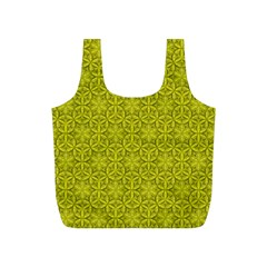 Flower Of Life Pattern Lemon Color  Full Print Recycle Bags (s)