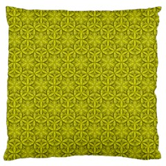 Flower Of Life Pattern Lemon Color  Standard Flano Cushion Case (two Sides)