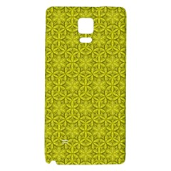 Flower Of Life Pattern Lemon Color  Galaxy Note 4 Back Case