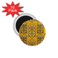 Rain Showers In The Rain Forest Of Bloom And Decorative Liana 1 75  Magnets (10 Pack)