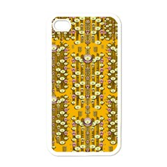 Rain Showers In The Rain Forest Of Bloom And Decorative Liana Apple Iphone 4 Case (white)