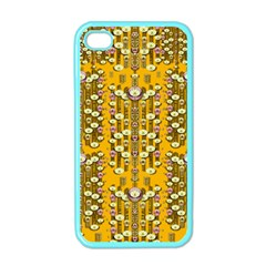 Rain Showers In The Rain Forest Of Bloom And Decorative Liana Apple Iphone 4 Case (color)