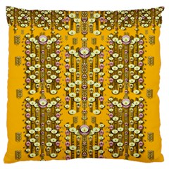 Rain Showers In The Rain Forest Of Bloom And Decorative Liana Large Cushion Case (two Sides)