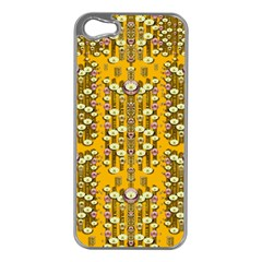 Rain Showers In The Rain Forest Of Bloom And Decorative Liana Apple Iphone 5 Case (silver)