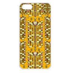 Rain Showers In The Rain Forest Of Bloom And Decorative Liana Apple Iphone 5 Seamless Case (white)