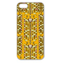 Rain Showers In The Rain Forest Of Bloom And Decorative Liana Apple Seamless Iphone 5 Case (clear)