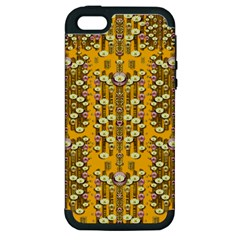 Rain Showers In The Rain Forest Of Bloom And Decorative Liana Apple Iphone 5 Hardshell Case (pc+silicone)
