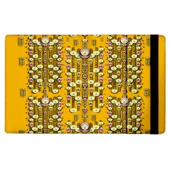 Rain Showers In The Rain Forest Of Bloom And Decorative Liana Apple Ipad 3/4 Flip Case