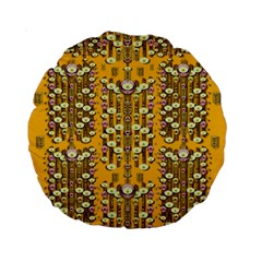 Rain Showers In The Rain Forest Of Bloom And Decorative Liana Standard 15  Premium Round Cushions