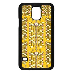 Rain Showers In The Rain Forest Of Bloom And Decorative Liana Samsung Galaxy S5 Case (black)