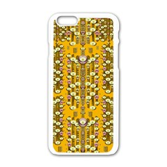 Rain Showers In The Rain Forest Of Bloom And Decorative Liana Apple Iphone 6/6s White Enamel Case