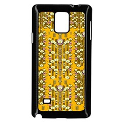 Rain Showers In The Rain Forest Of Bloom And Decorative Liana Samsung Galaxy Note 4 Case (black)