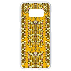 Rain Showers In The Rain Forest Of Bloom And Decorative Liana Samsung Galaxy S8 White Seamless Case