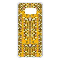 Rain Showers In The Rain Forest Of Bloom And Decorative Liana Samsung Galaxy S8 Plus White Seamless Case