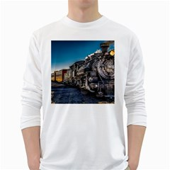 D&r Steam Train 484 White Long Sleeve T Shirts
