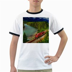 Canadian Railroad Freight Train Ringer T Shirts