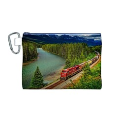 Canadian Railroad Freight Train Canvas Cosmetic Bag (m)