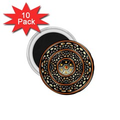 Dark Metal And Jewels 1 75  Magnets (10 Pack)