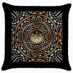 Dark Metal And Jewels Throw Pillow Case (black)