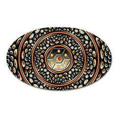 Dark Metal And Jewels Oval Magnet
