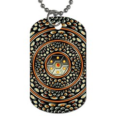 Dark Metal And Jewels Dog Tag (two Sides)