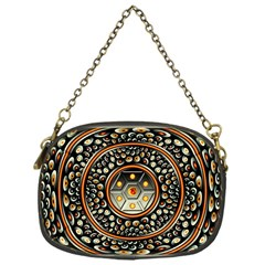 Dark Metal And Jewels Chain Purses (one Side)