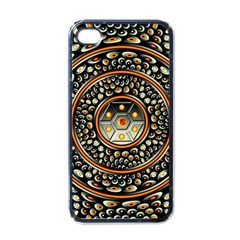 Dark Metal And Jewels Apple Iphone 4 Case (black)