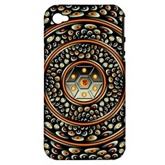 Dark Metal And Jewels Apple Iphone 4/4s Hardshell Case (pc+silicone)