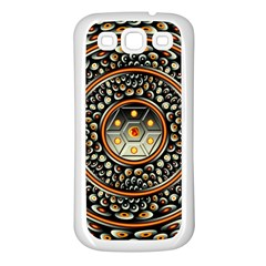 Dark Metal And Jewels Samsung Galaxy S3 Back Case (white)