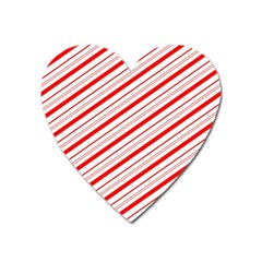 Candy Cane Stripes Heart Magnet
