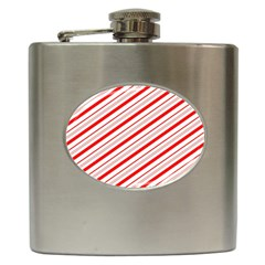 Candy Cane Stripes Hip Flask (6 Oz)