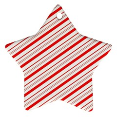 Candy Cane Stripes Star Ornament (two Sides)
