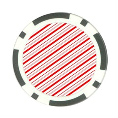 Candy Cane Stripes Poker Chip Card Guard