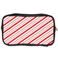 Candy Cane Stripes Toiletries Bags 2 Side