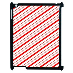 Candy Cane Stripes Apple Ipad 2 Case (black)